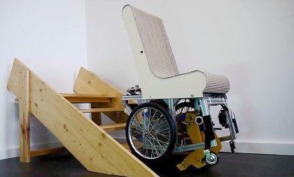 Der treppensteigende Rollstuhl